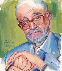 José Luís Sampedro, óleo-papel, 36x43cmG