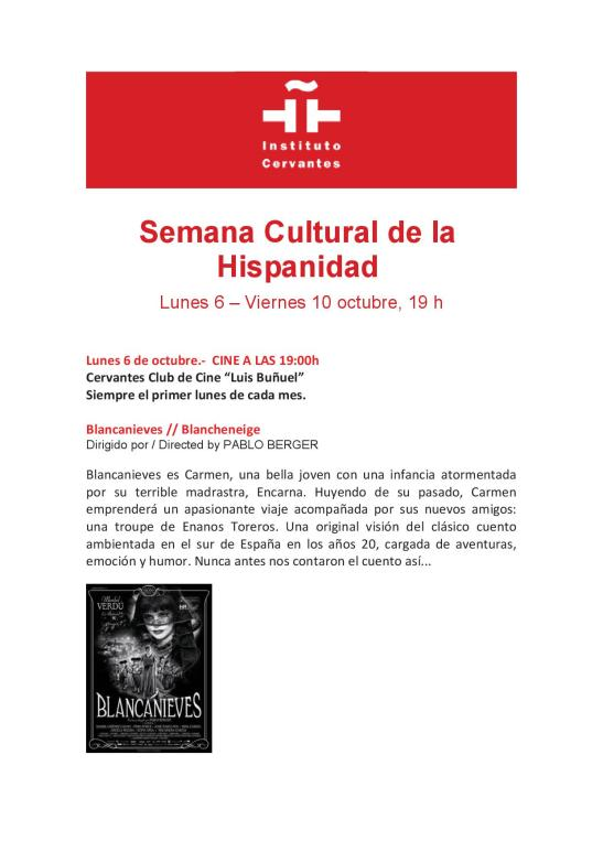 SEMANA CULTURAL DE LA HISPANIDAD 1