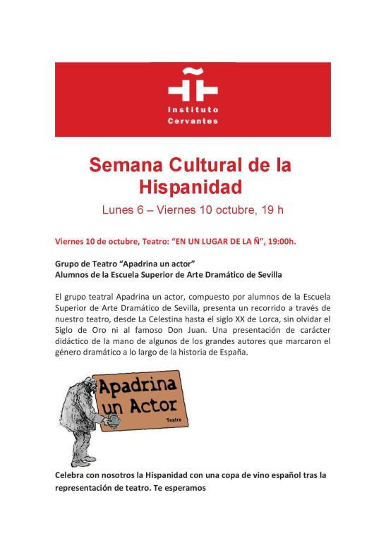 SEMANA CULTURAL DE LA HISPANIDAD 4