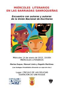 CARTEL MIERCOLES LITETARIOS barriadas2015