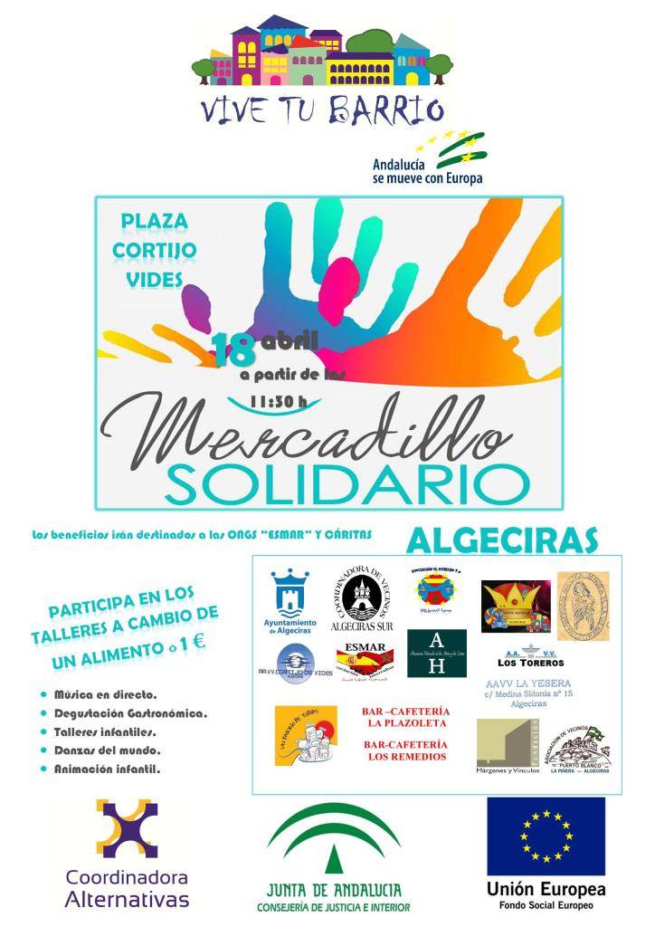 CARTEL MERCADILLO SOLIDARIO ALGECIRAS